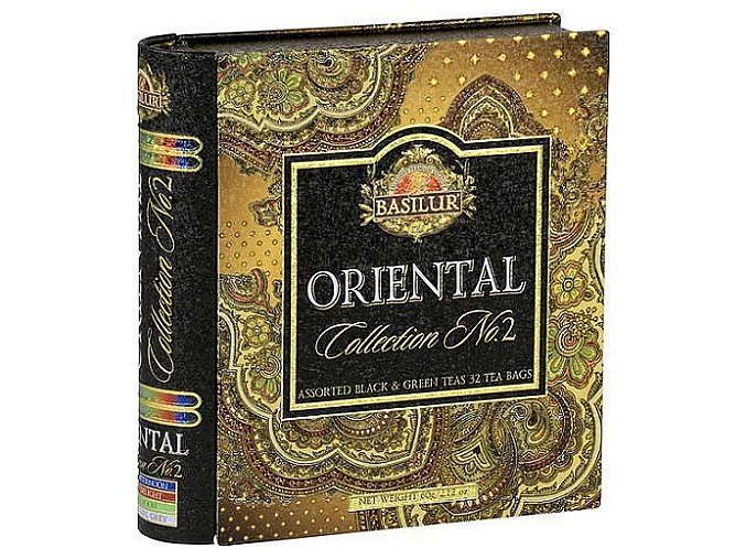 BASILUR Book Orient Assorted II plech 32 gastro sáčků