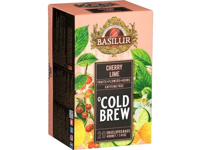 BASILUR Cold Brew Cherry Lime přebal 20x2g