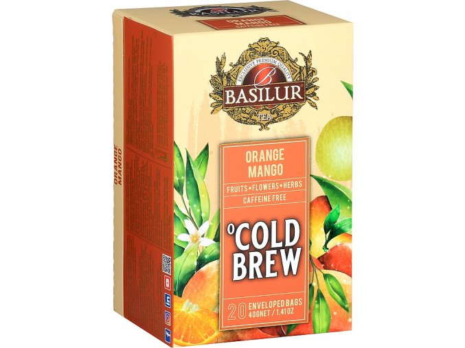 BASILUR Cold Brew Orange Mango přebal 20x2g