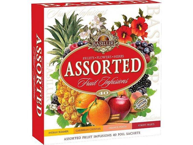 BASILUR Fruit Infusions Assorted přebal 40 gastro sáčků