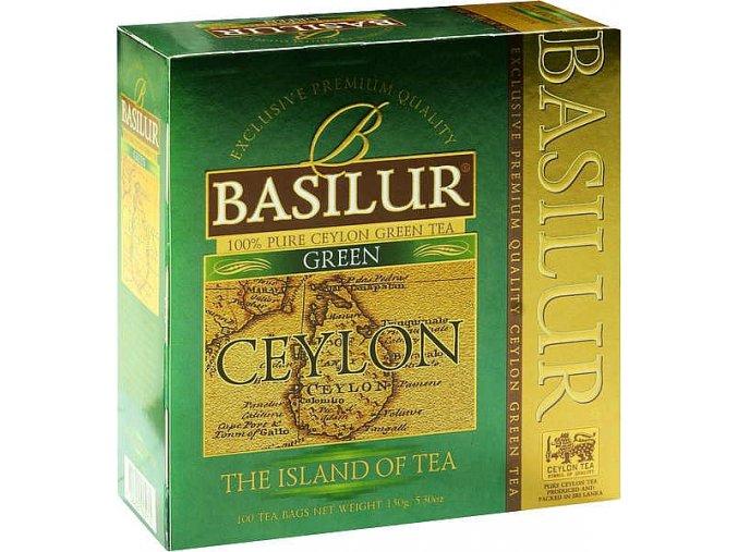 BASILUR Island Ceylon Green nepřebal 100x1,5g