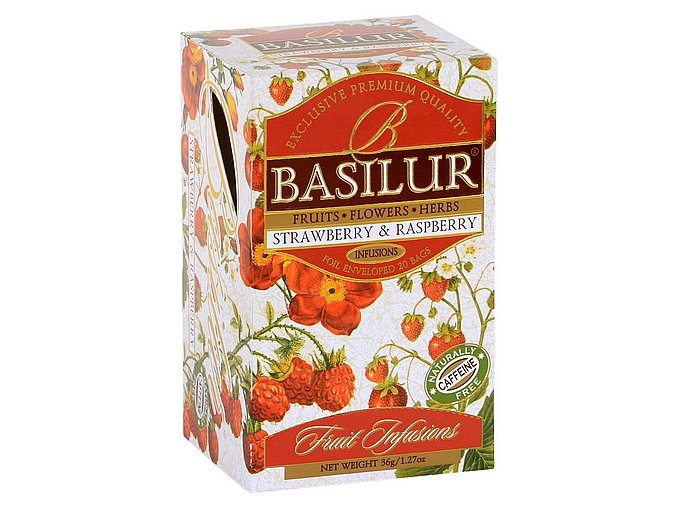 BASILUR Fruit Strawberry & Raspberry přebal 20x1