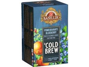BASILUR Cold Brew Pomegranate Blueberry přebal 20x2g