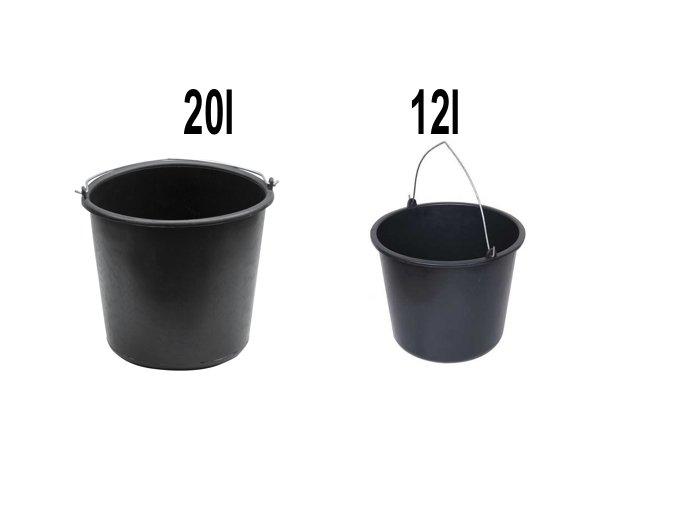 Kbelík plastový černý