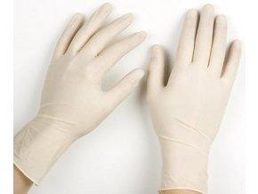 Latexové rukavice L