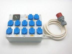 Rozvaděč 12+2 (400V) s tepelnou ochranou proti požáru max 3500W, 16A