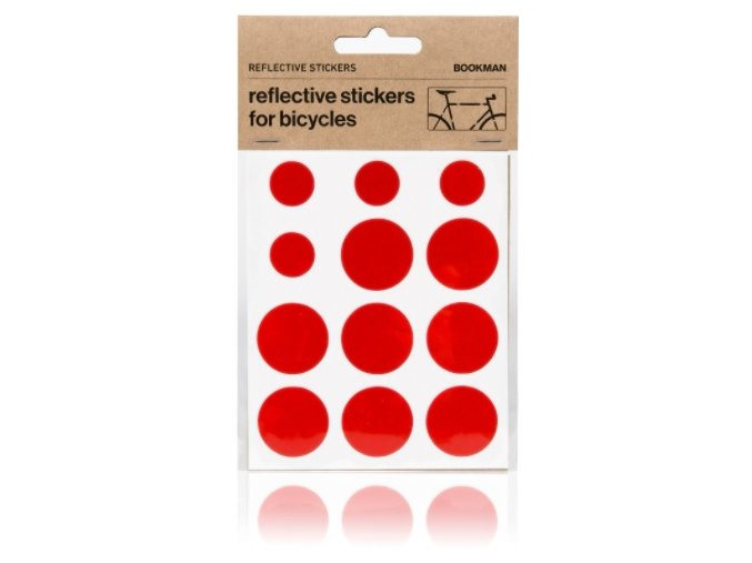 Bookman Sticky Reflectors Red