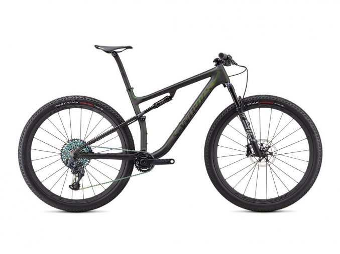 Specialized S-Works Epic 2021  SATIN/GLOSS CARBON/COLOR RUN SILVER - GREEN CHAMELEON
