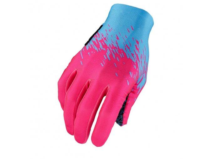 supag long glove neon blue neon pink