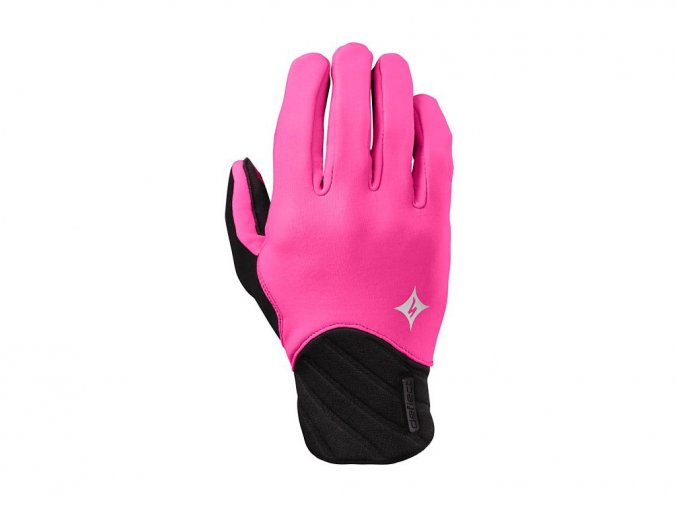 80814 1 damske zimni cyklisticke rukavice specialized deflect glove lf wmn neon pnk