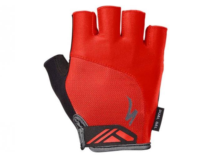 rukavice specialized bg dual gel red xxl