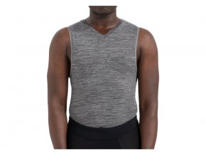 64119 085 APP SEAMLESS BASELAYER SVL HTHR GRY HERO