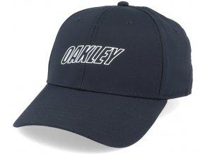 6 panel waved hat blackout flexfit oakley