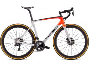 Specialized S-Works Roubaix Di2 2020  Gloss Dove Gray/Rocket Red/Black