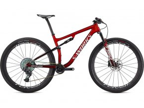 Specialized S-Works Epic 2021  Gloss Red Tint FADE OVER BRUSHED SILVER/TARMAC BLACK/WHITE w/ GOLD PEARL            + servis tlumič/vidlice 2 roky zdarma