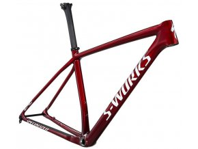 Specialized S-Works Epic HT Frameset 2021  Gloss Red Tint Fade Over Brushed Silver/Tarmac Black/White
