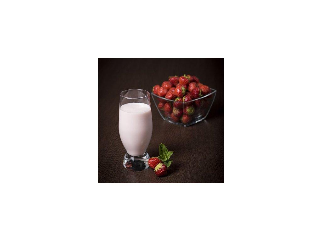Jahodový milk shake