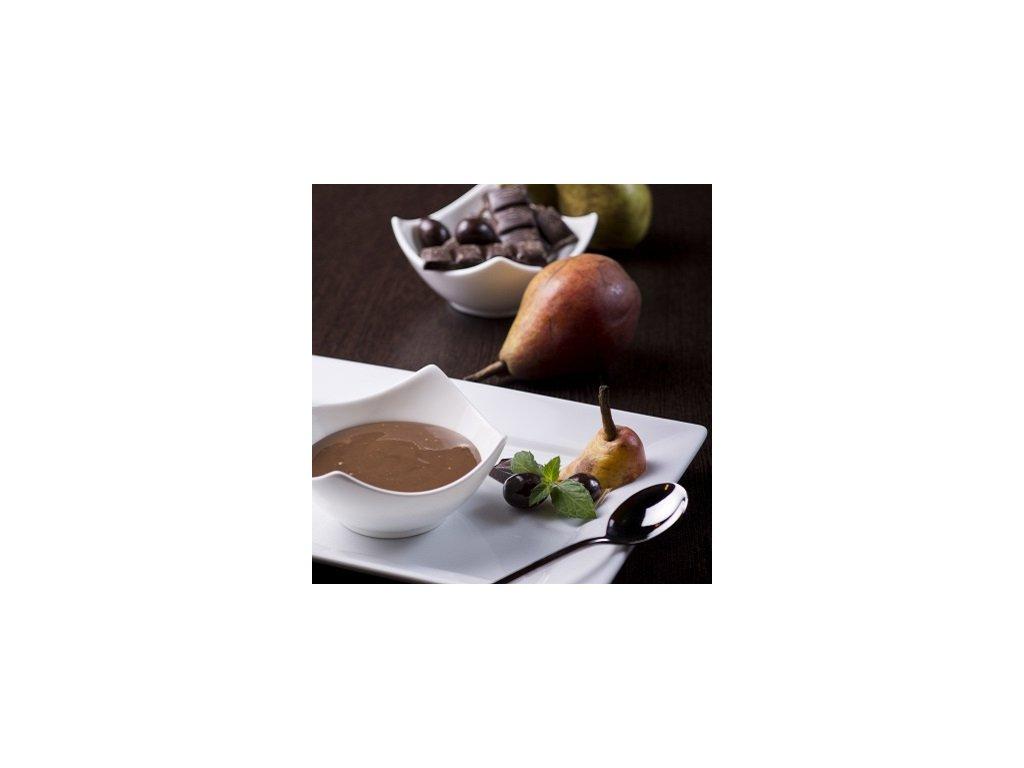 Hruškovo čokoládový puding