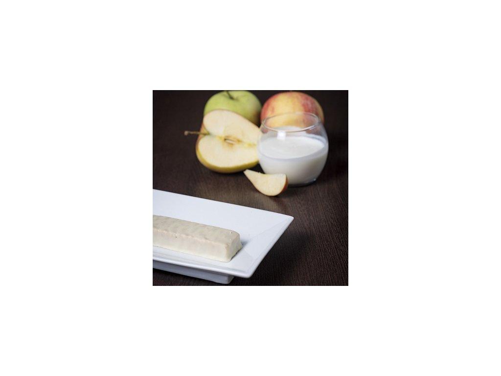Jablková tyčinka s jogurtovou polevou