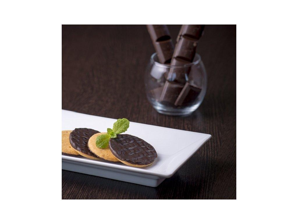 Sušienky s čokoládovou polevou