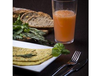 Omeleta s bylinkovou príchuťou