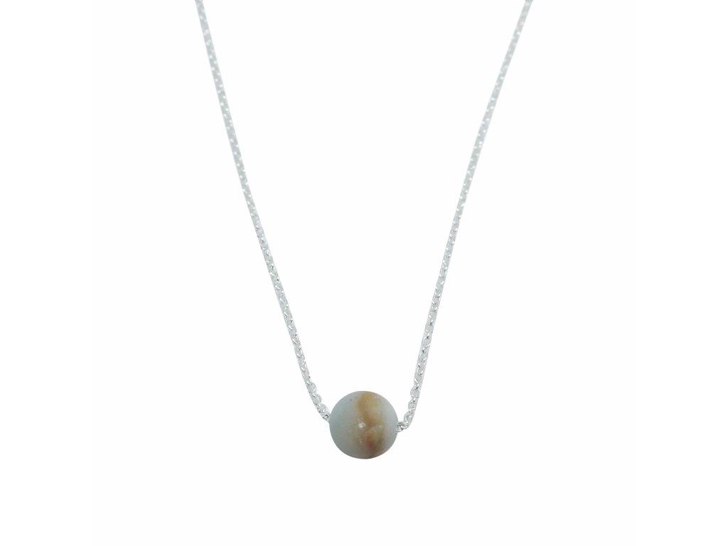 Řetízek s chalcedonem opálu