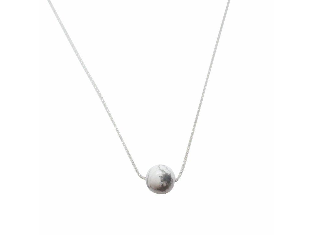 howlitový náhrdelník