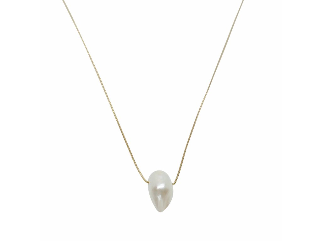 Zlatý řetízek s barokní perlou