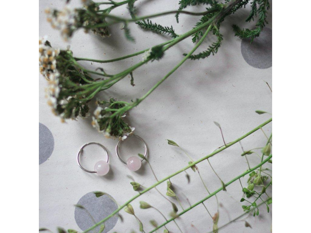 Náušnice s přírodními růženíny