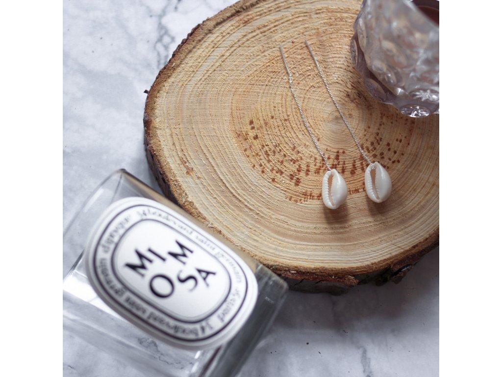 náušnice ze stříbra s mušlemi