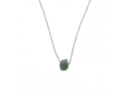 náhrdelník s vltavínem - czech moldavite