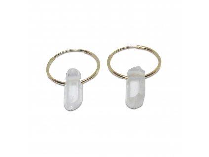 Šperke kruhové náušnice s křišťály