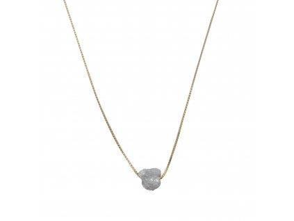 diamant na řetízku ze 14k žlutého zlata
