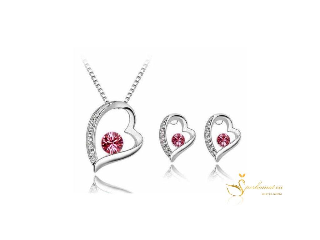 krásný stříbrný set vhodný jako dárek k Valentýnu
