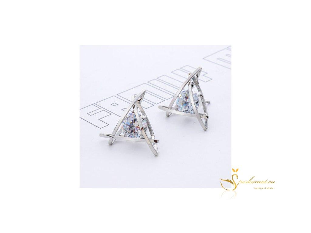 Luxusní stříbrné náušnice s drahokamy