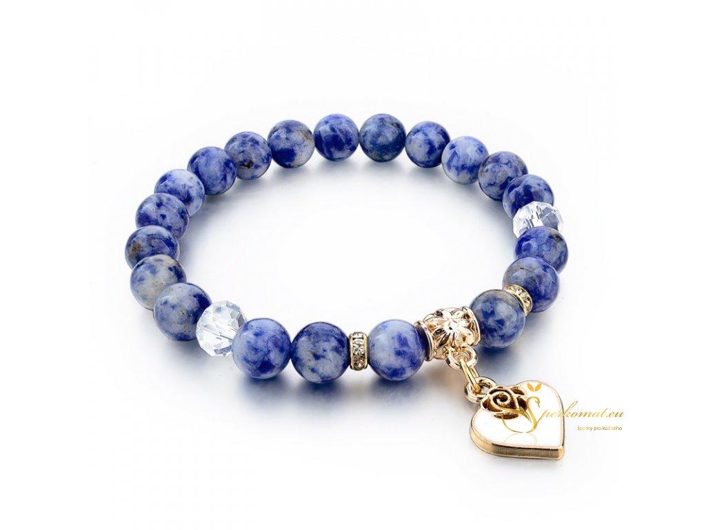 Originální náramek s přírodními kameny-modrá(sodalit)