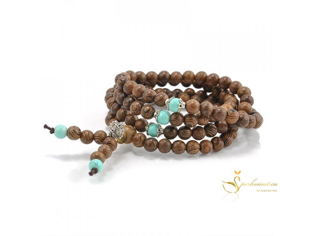 Náramek (náhrdelník) santalové dřevo