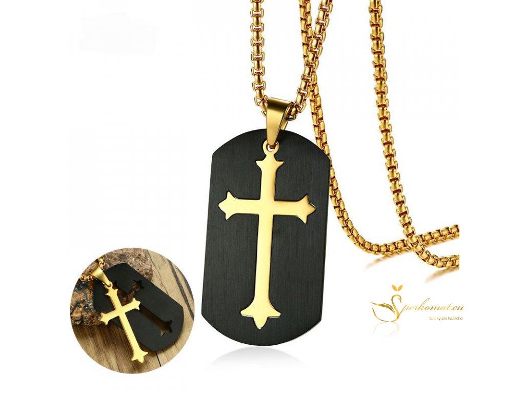 Psí známka a křížem