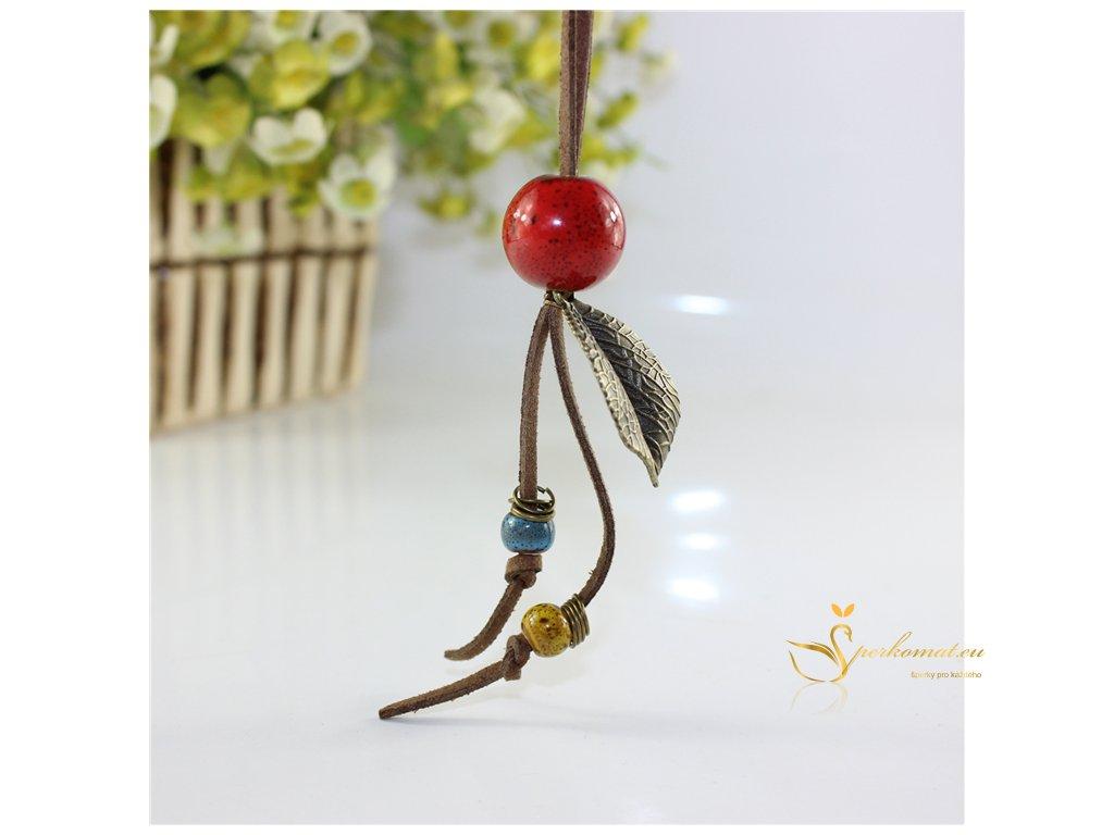 Keramický náhrdelník RED