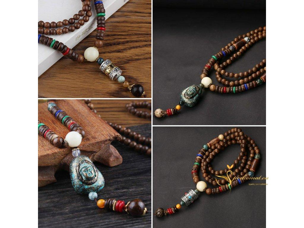 Dřevěný náhrdelník (dva typy)