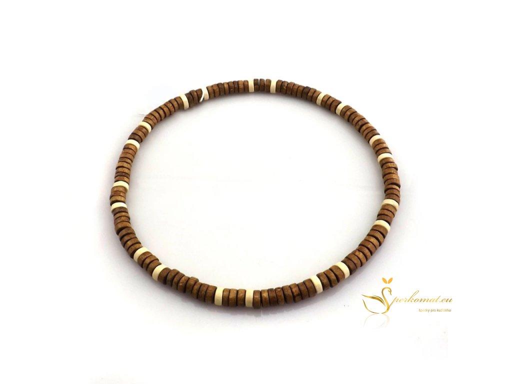 Dřevěný náhrdelník a náramek (dva v jednom)