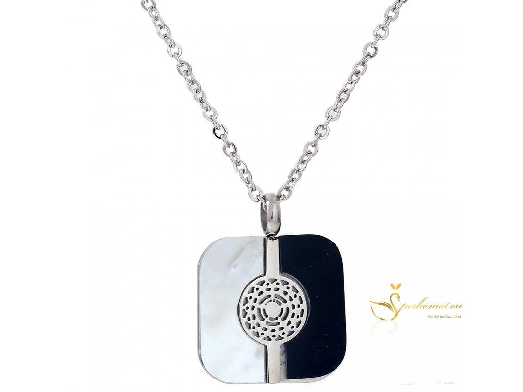 Perletový nerezový náhrdelník