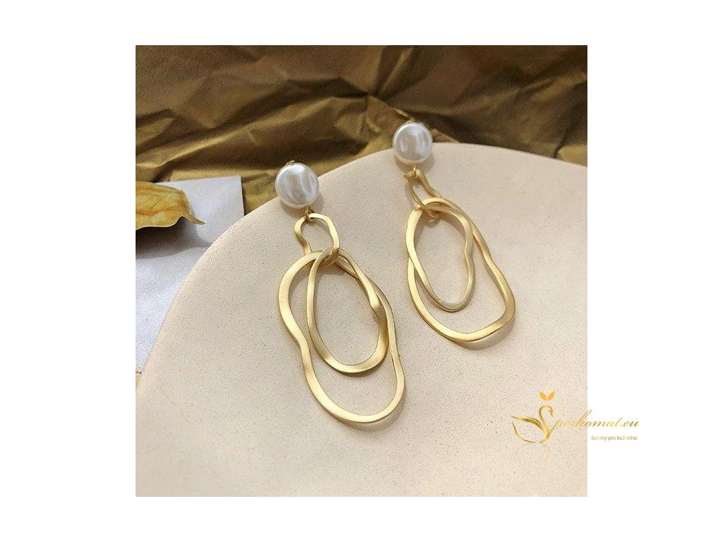 Náušnice vyrobeny ze sladkovodních perel S