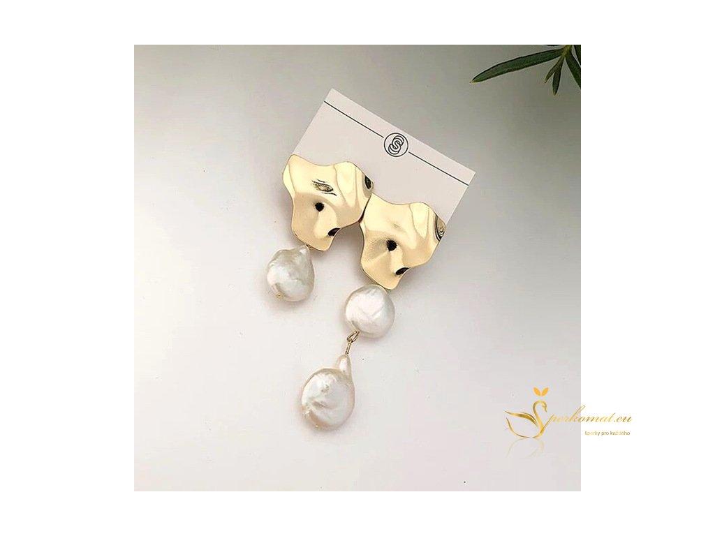 Náušnice vyrobeny ze sladkovodních perel R