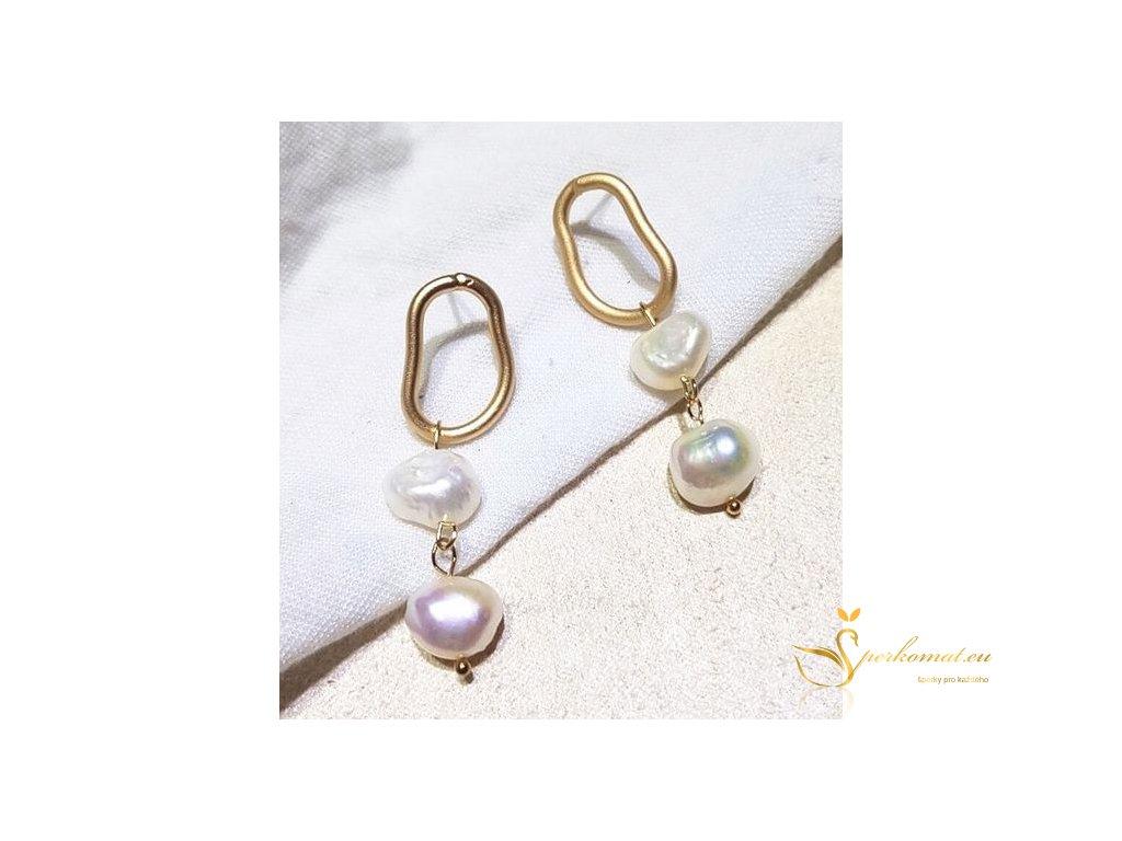 Náušnice vyrobeny ze sladkovodních perel V