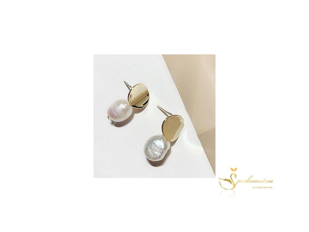 Náušnice vyrobeny ze sladkovodních perel D