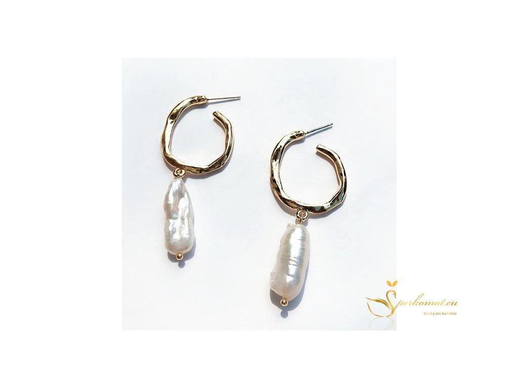 Náušnice vyrobeny ze sladkovodních perel A