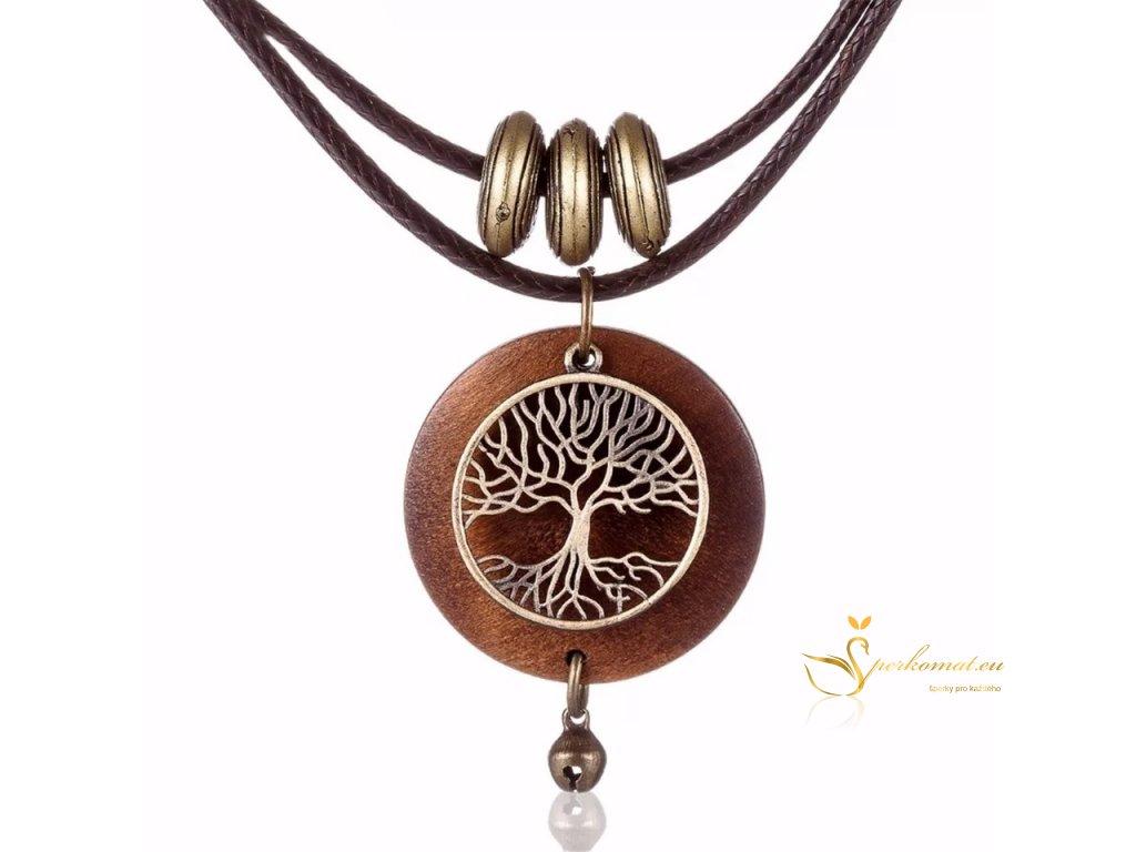 Dřevěný náhrdelník strom života