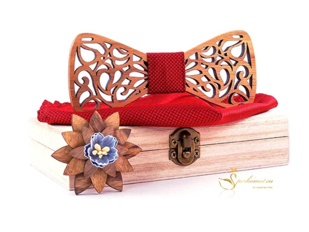 Luxusní dřevěný motýlek H136