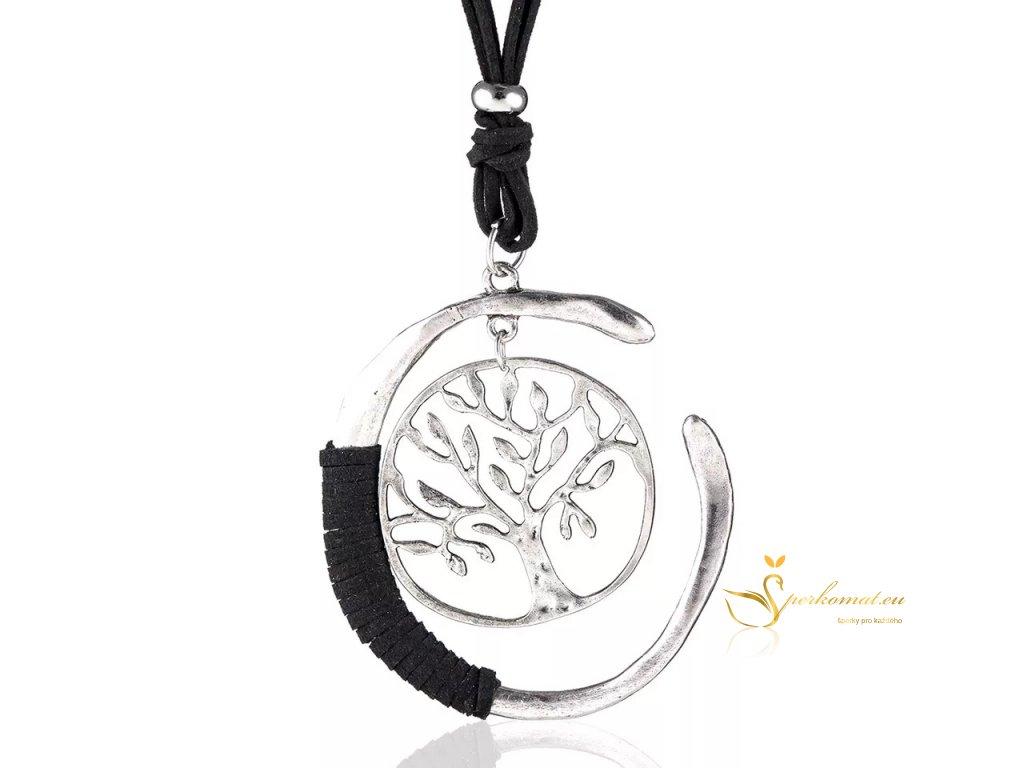 Luxusní ocelový náhrdelník strom života.